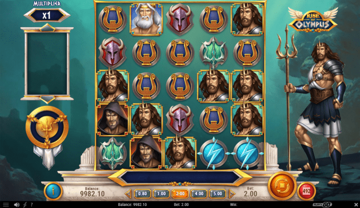 Play'N Go - Rise of Olympus - Reels poseidon - casinogroundsdotcom