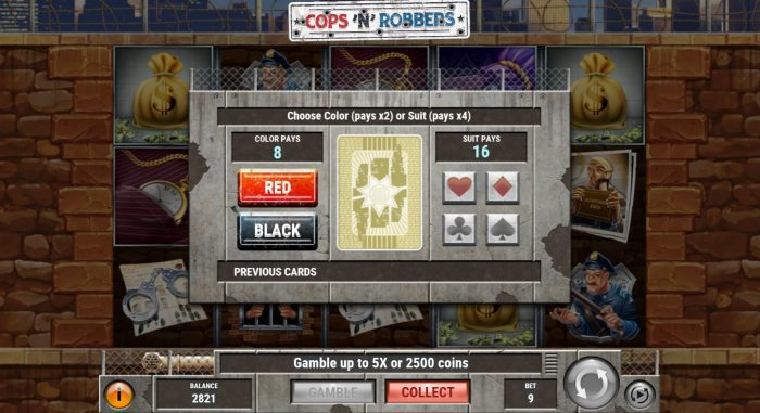play'n go - cops n robbers - gamble - casinogroundsdotcom