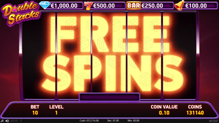 Netent - Double Stacks - Free Spins - casinogroundsdotcom