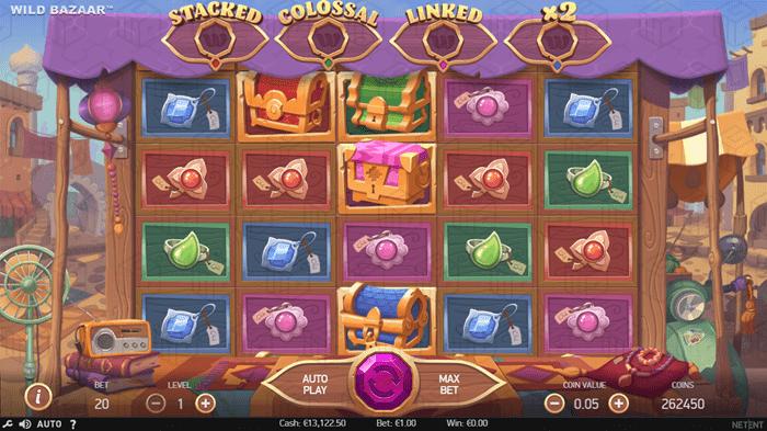 Preview of the new NetEnt Slot Wild Bazaar - Reels