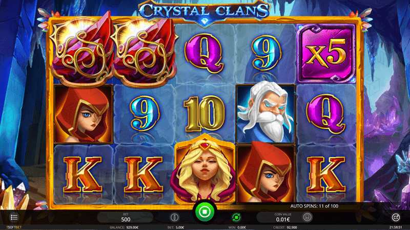 isoftbet - crystal clans - reels - Crystals and 5x