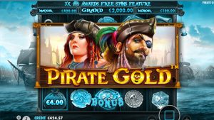 Pirate Gold slot logo (a Pragmatic Play videoslot)