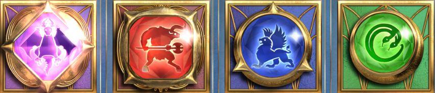 Screenshot of gem symbols in the Kingsmaker slot (Big Time Gaming)