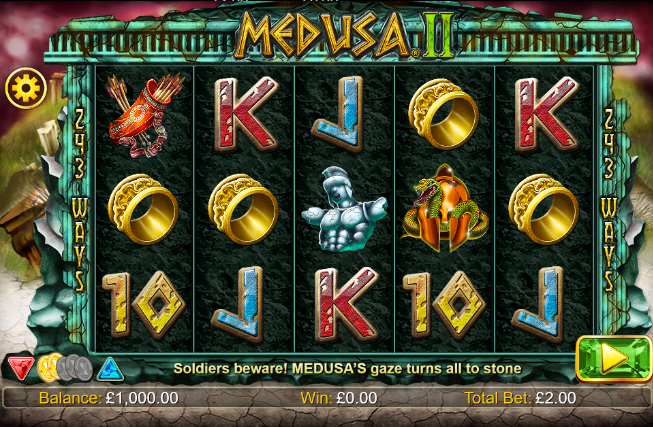 Screenshot of base game in the Medusa 2 slot (NextGen Gaming)