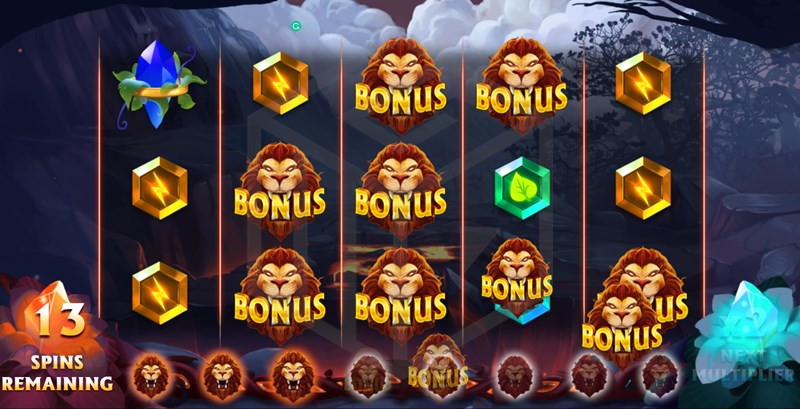Elemental Beasts Slot Free spins Reel